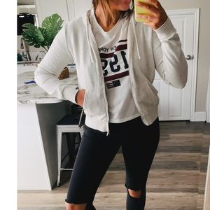 H&M divided heather zip up jacket